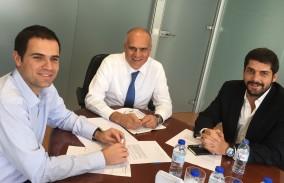 João Paixão, Luís Paixão Martins e Rodrigo Moita de Deus na primeira reunião da direcção da Associação Acta Diurna